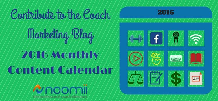 banner 2016 content calendar