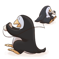acts of kindness: phone a friend penguins